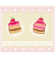 Lovely Pattern With cake Design vector image