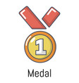medal icon cartoon style vector image
