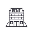 real estate rent line icon sign vector image