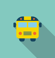 School Bus Flat Icon with Long Shadow vector image