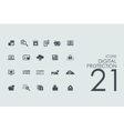 Set of digital protection icons vector image