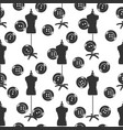 tailor shop seamless pattern with dummy and vector image