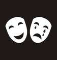 Theatrical masks vector image