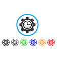 time setup gear rounded icon vector image