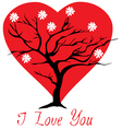 valentine tree heart vector image