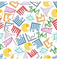 Business graphs and charts seamless pattern vector image