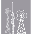 towers telecommunication television radio vector image