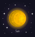 sun in space element of solar system star vector image