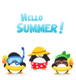 Summer Penguins vector image