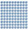 Percentage icons full blue set vector image