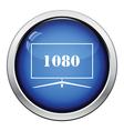 Wide tv icon vector image