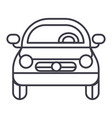 car vehicle front view line icon sign vector image