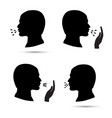 cough icons set vector image