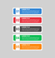 flat business style options banner flat for vector image