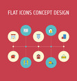 flat icons choice house real estate and other vector image