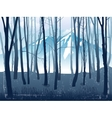 Forest landscape with mountains vector image