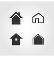 House icons set flat design vector image
