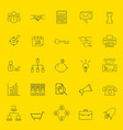 office and business thin line icons vector image