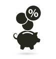 percent saving piggy bank vector image