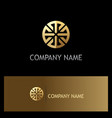 round geometry ornament gold logo vector image