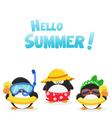 Summer Penguins vector image
