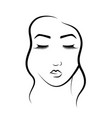 the face of a beautiful girl logo for beauty vector image