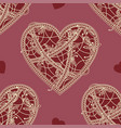 seamless patterns heart vector image
