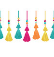 vibrant decorative tassels beads and vector image