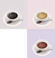 Three Coffee Cups vector image vector image