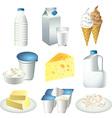 milky set vector image vector image