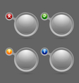 Notification bubbles vector image