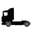 black silhouette on a truck vector image