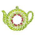 decorative ornament teapot vector image vector image