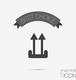 logistic packing arrow up sign vector image