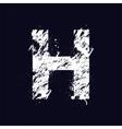 Grunge letter H vector image