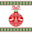 christmas ball with deers vector image