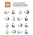water elegant symbol set vector image vector image