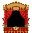 Puppet show booth vector image