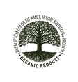 Logo tree organic Natural product Nature or vector image