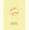 baseball vintage hand drawn style poster vector image