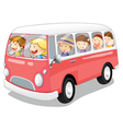 Bus and kids vector image