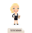businesswoman with cofee vector image