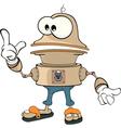 Cartoon character cute robot vector image