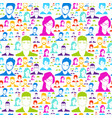 colorful people silhouette social media profile vector image