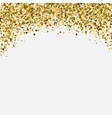 Gold glitter shimmery heading Invitation card or vector image