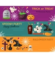Halloween Horizontal Banners or Flyers vector image