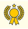 Winner badge symbol golden color design vector image