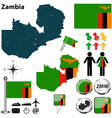 Zambia map vector image