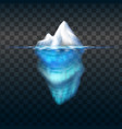 iceberg on transparent background block of vector image