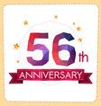 colorful polygonal anniversary logo 2 056 vector image vector image